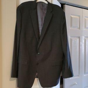 NWOT Claiborne 50L charcoal grey  suit jacket